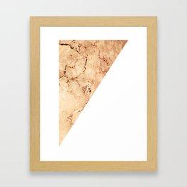 SPLIT MARBLE Framed Art Print