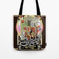 metropolis Tote Bags featuring Metropolis  by KRNago