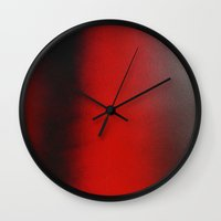 rothko Wall Clocks featuring Red like Rothko by G.Yankee