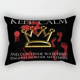 Keep Calm English Murder Mysteries Rectangular Pillow