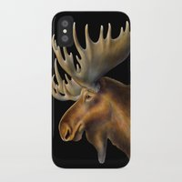 moose iPhone & iPod Cases featuring Moose by Tim Jeffs Art