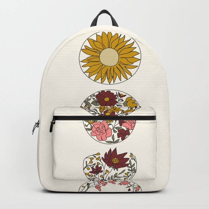 Floral Phases of the Moon Rucksack