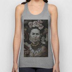 Hommage à Frida Kahlo 3 Unisex Tank Top