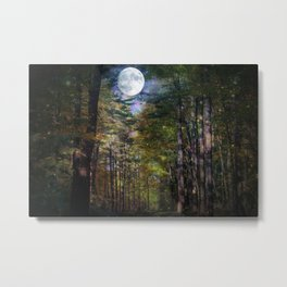 Magical Moonlit Forest Metal Print