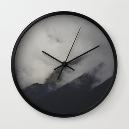 Fog in the Andes Mountains Wall Clock