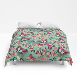 Butterfly pattern 001 Comforters