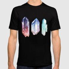Crystals Black MEDIUM Mens Fitted Tee