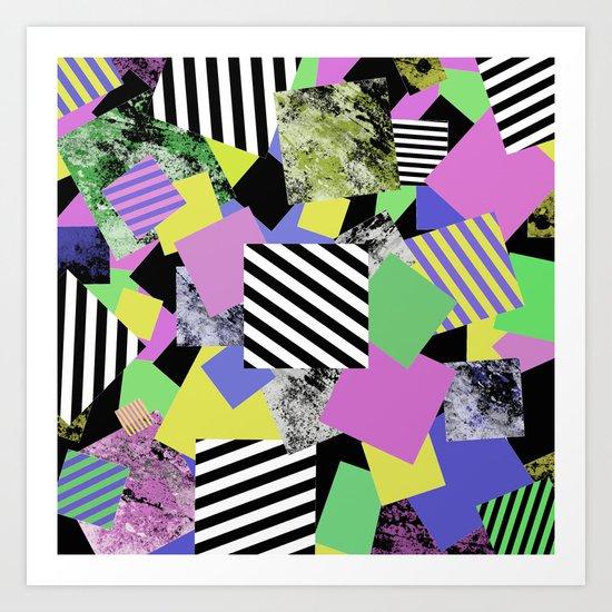 Crazy Squares - Abstract, Geometric Pop Art Art Print