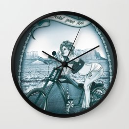 Pedal Your Life Wall Clock