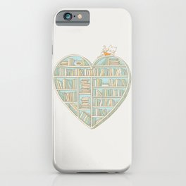 I Heart Books iPhone Case