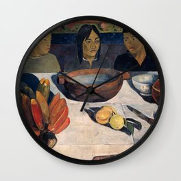 The Meal by Paul Gauguin Wall Clock