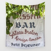 bar Wall Tapestries featuring Bar - Brasserie - Restaurant  by Premium