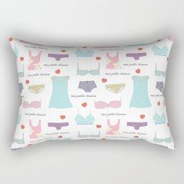 Mes Petits Dessous Pattern Rectangular Pillow