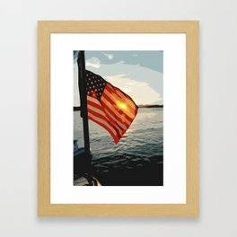 Patriot's Sunset Framed Art Print