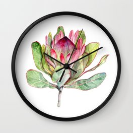 Protea Flower Wall Clock