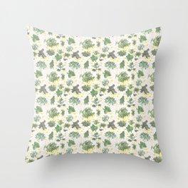 Salad Floral Throw Pillow