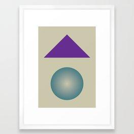 Gradient V3 Framed Art Print