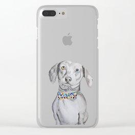 Dapper Dachshund Watercolor Dog Clear iPhone Case