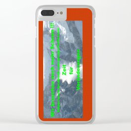 mehr Schnee / we need more snow Clear iPhone Case