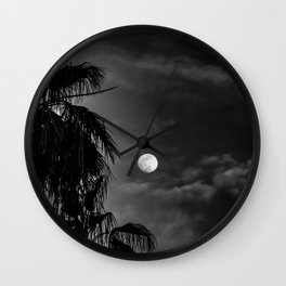 Palm Glow Wall Clock