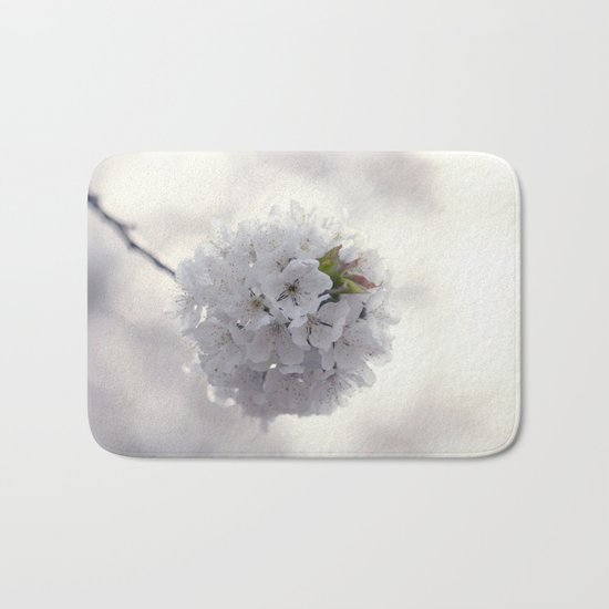 Cherry blossoms in Love - Cherryblossom Flowers Floral Bath Mat