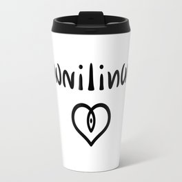 Ambigram Cunnilingus Travel Mug