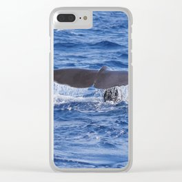 Pot Whale Fluke Greeting Clear iPhone Case