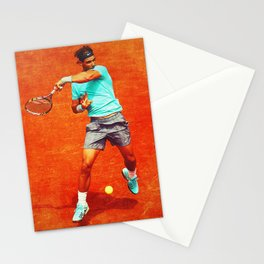 Rafael Nadal Tennis On Clay Stationery Cards