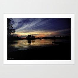crab orchard sunset 1 Art Print