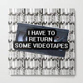 Videotapes Metal Print