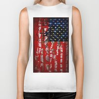 flag Biker Tanks featuring Flag by Milton