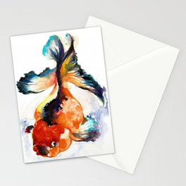 LUCKY GOLD FISH ZEN WATERCOLOR Stationery Cards