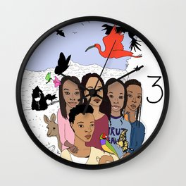 Birds of A Feather Stick Together Wall Clock
