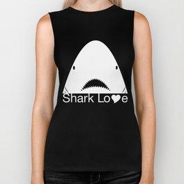 Shark Love (white) Biker Tank