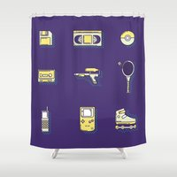 90s Shower Curtains featuring 90s Stuff by POP Collective