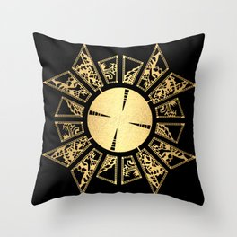 Lament Configuration Opened - Natural Throw Pillow