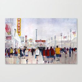 Jersey Shore - Midway Way - Seaside Heights Canvas Print