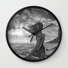 The Lighthouse Keeper's Daughter Wall Clock
