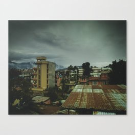 Kathmandu City Roof Top 003 Canvas Print