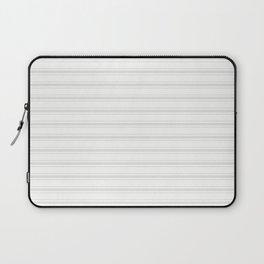 Creamy Tofu White Mattress Ticking Wide Striped Pattern - Fall Fashion 2018 Laptop Sleeve
