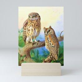 12,000pixel-500dpi - Archibald Thorburn - Little Owl and Scops Owl - Digital Remastered Edition Mini Art Print