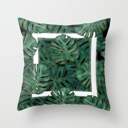 Square Between the Leaves Throw Pillow