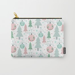 Christmas white pattern Carry-All Pouch