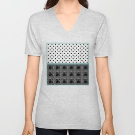 A combined decorative pattern . Unisex V-Neck