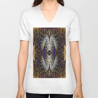 ornate V-neck T-shirts featuring Ornate by RingWaveArt