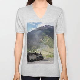 Waiting Under the Towering 13,066-foot Kendall Mountain Unisex V-Neck