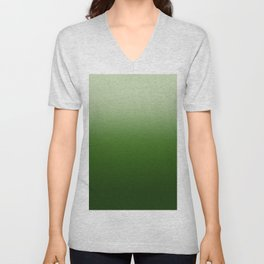 Tropical Green Gradient Unisex V-Neck