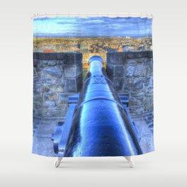 Edinburgh Castle Cannon Shower Curtain