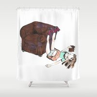 reading Shower Curtains featuring Reading by Ciccimon