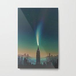 Sky Candle above City Metal Print